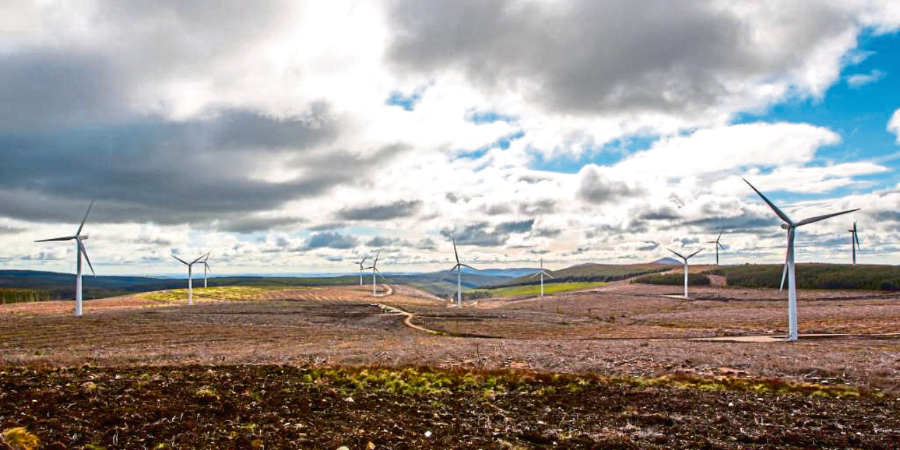 Clashindarroch, the existing Vattenfall windfarm