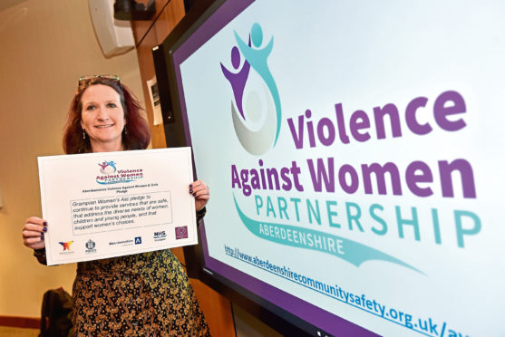 Aberdeenshire's Violence Against Women and Girls Partnership will launch a strategy and action plan shaped directly by the voice of survivors. Pictured is Alison Hay, with her pledge