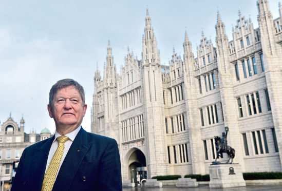 The new SNP Group Leader Alex Nicoll outside Marischal College