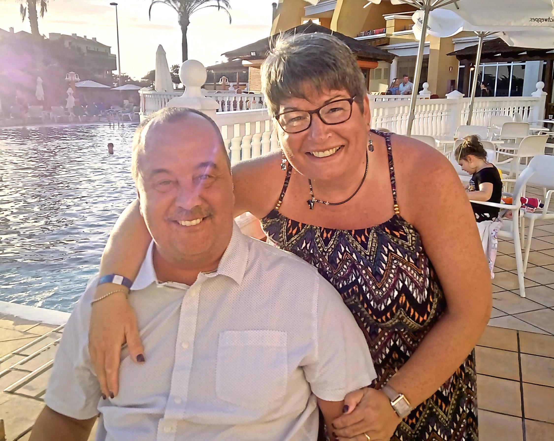 Graham Bennett has heaped praise on his wife Iris