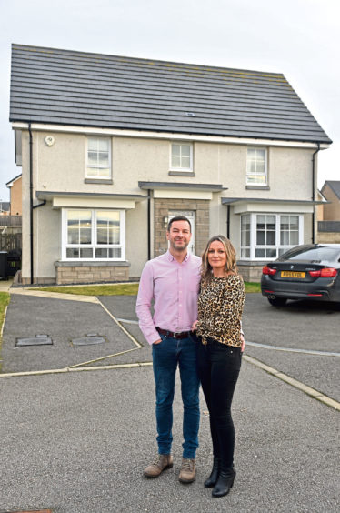 Ian Gallow and Kristen Rossvoll have put 106 Oldmeldrum Road, Inverurie on the market