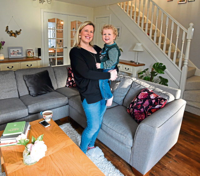 Vanessa and Finn Hartly, from Alder Tree Road, Banchory