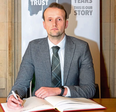 Stephen Flynn, MP for Aberdeen South, this week signed the Holocaust Educational Trust's Book of Commitment.