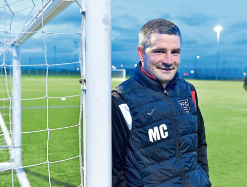 Fraserburgh manager Mark Cowie. Picture by Chris Sumner
