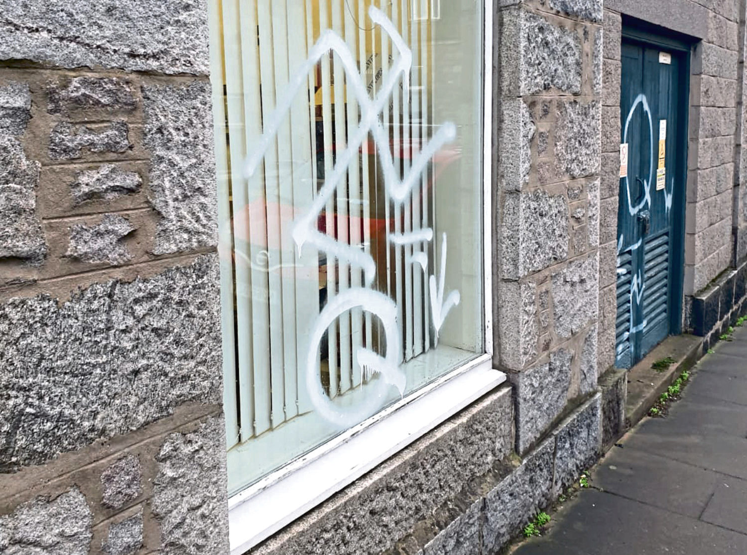 The offensive slurs discovered by staff at the buildings in Aberdeen