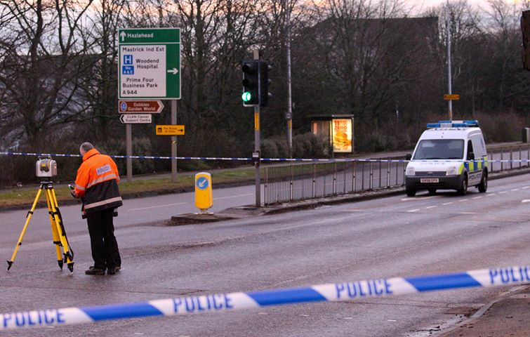 The road was closed for several hours while an investigation took place