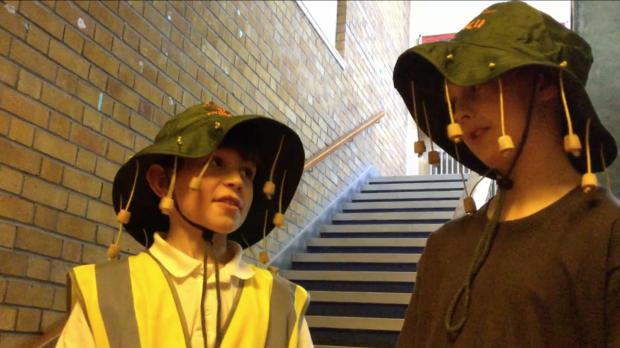 Gilcomstoun primary pupils in their short film, Sgoil Safari