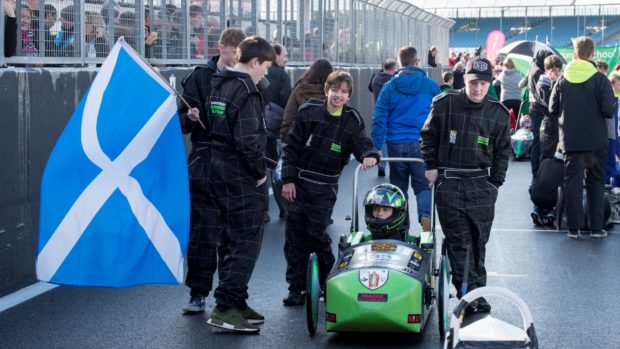 The Institution of Engineering and Technology Formula 24 challenge gives 11 to 16 year olds the chance to build and race a single-seater electric car