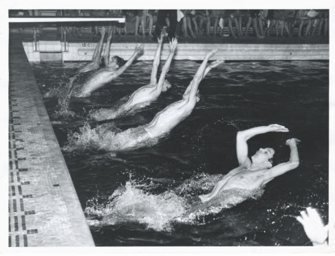 Robert Gordon's College Annual swimming gala held in the Bon-Accord Baths