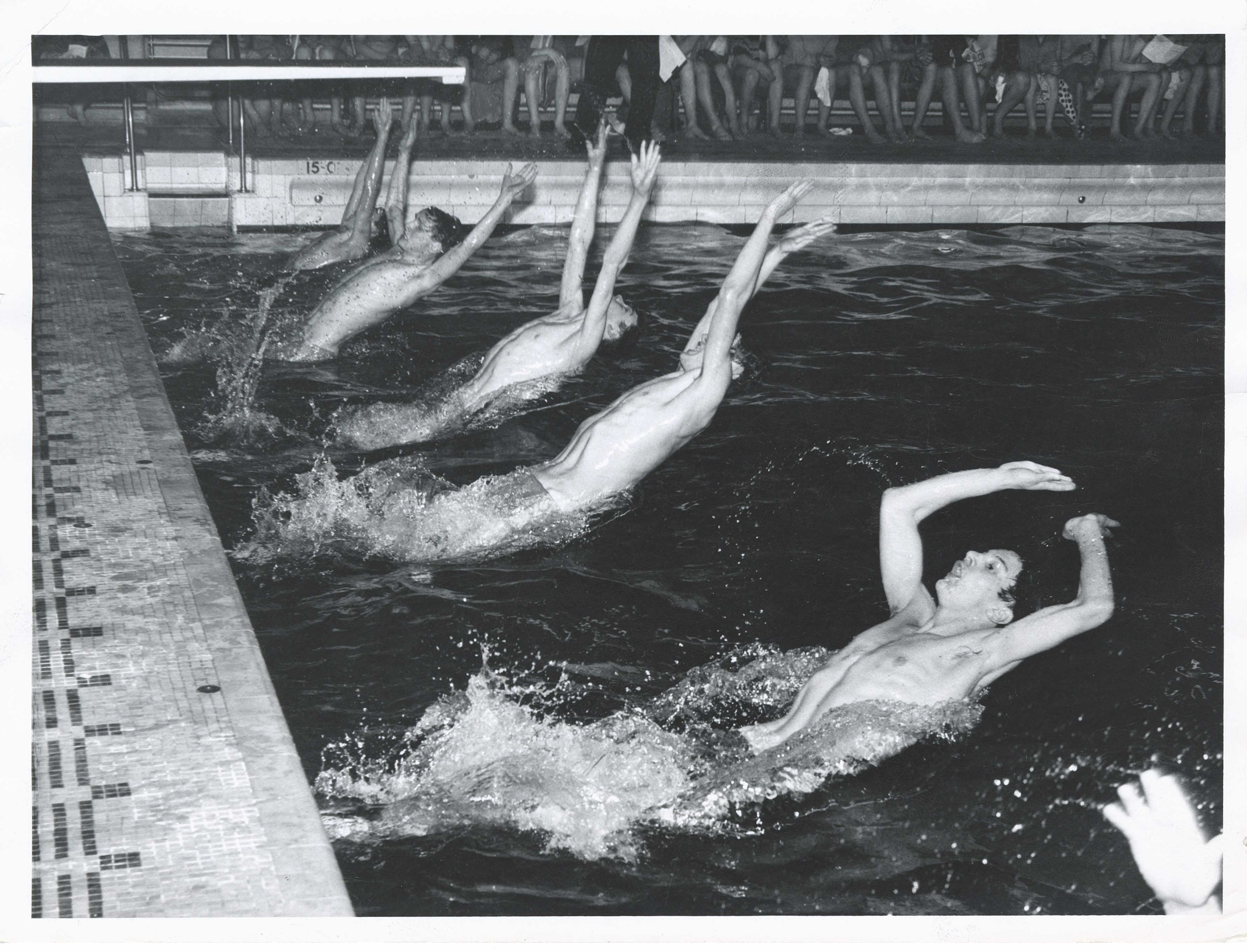 Robert Gordon's College Annual swimming gala held in the Bon-Accord Baths