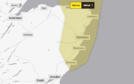 A weather warning is in place for the east coast