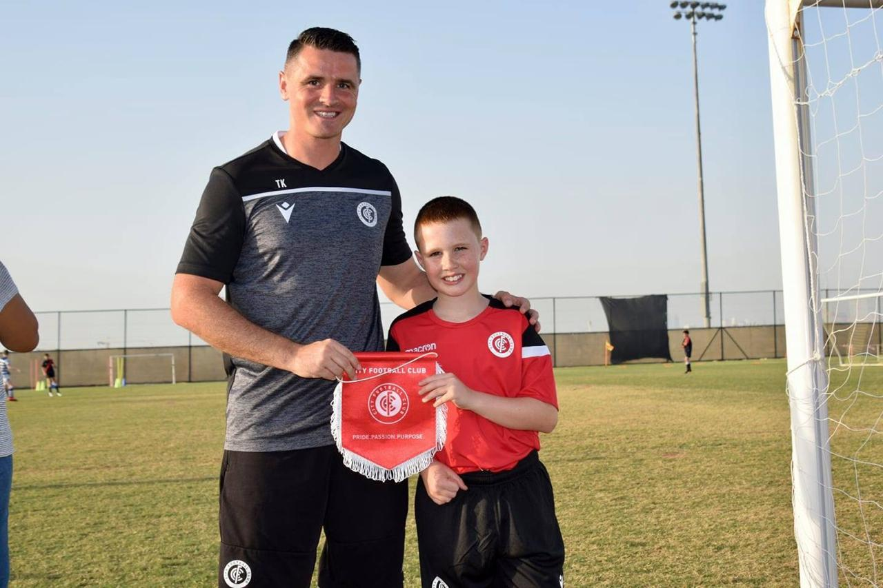 Terry Kidd runs Dubai City FC, who have organised a link-up with the Dons.