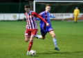 Formartine's Daniel Park and Keith's Andrew Smith. Picture by Chris Sumner