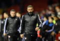 Derek McInnes at full-time on Wednesday. Picture by Darrell Benns