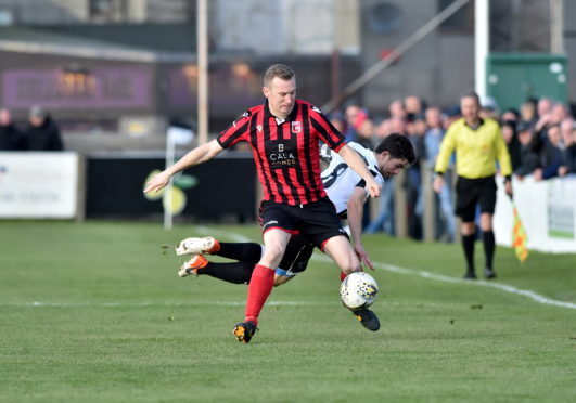 Eric Watson beats Fraserburgh's William West. Picture by Scott Baxter