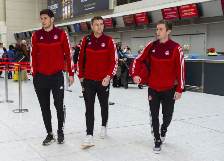 Scott McKenna, Mikey Devlin and Jon Gallagher.