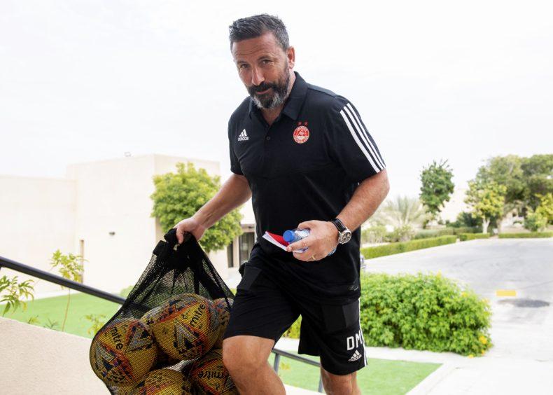 Derek McInnes made sure the Dons were using the proper SPFL balls.