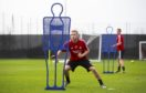 McGeouch training with Aberdeen in Dubai.