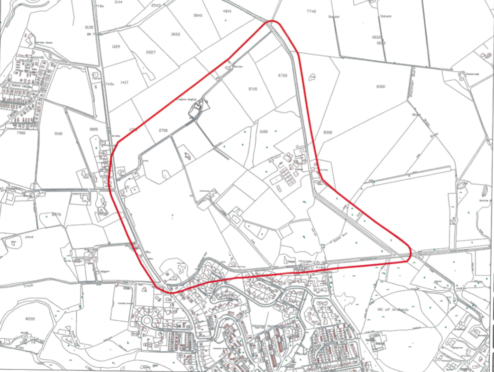 An early outline of the proposed site put forward by First Endeavour LLP