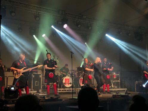 The Red Hot Chilli Pipers performed in Turriff