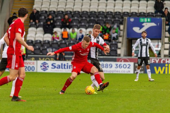 Lewis Ferguson in action against St Mirren.