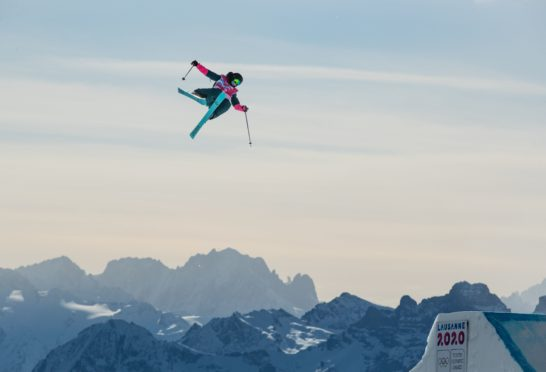Kirsty Muir in Big Air action.