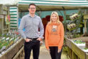 Kirsty Walker, fund Raising coordinator, Charlie House, and Simon Robertson, Catering director, Inverurie Garden Centre