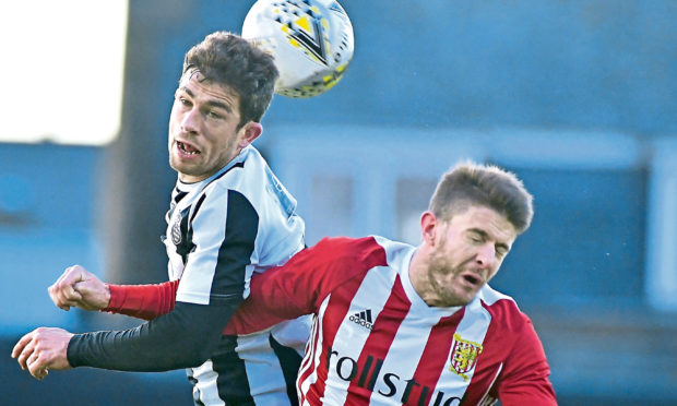 Willie West, left, is hoping Fraserburgh can get past Rothes today