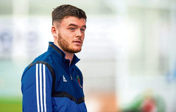 Cove Rangers defender Daniel Higgins.