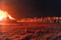 The Rosehearty bonfire event