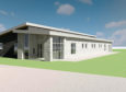 An artist's impression of the planned nursery, which will be built in the grounds of Kirkhill Primary School