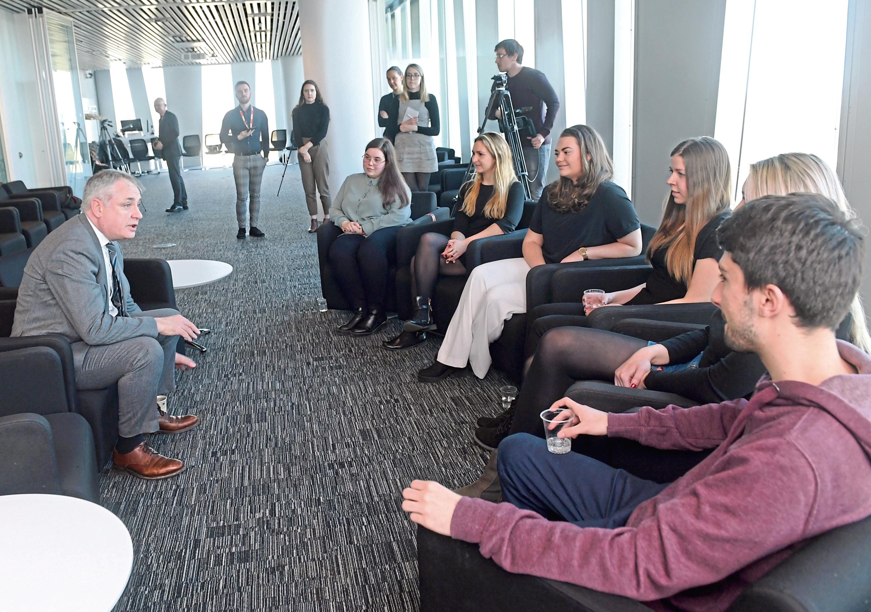 EU students in Aberdeen spoke to MSP Richard Lochhead
