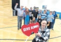 Pamela Whyte, whose husband Glenn passed away last year from leukaemia, is donating blood along with around 12 friends in his memory at the Blood Transfusion Service event in Inverurie