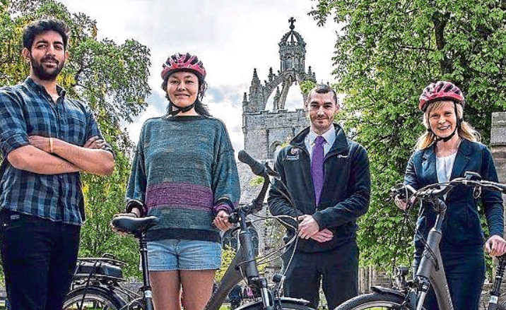 Aberdeen University won Best Employer for its commitment to including cycling in its sustainable travel plan