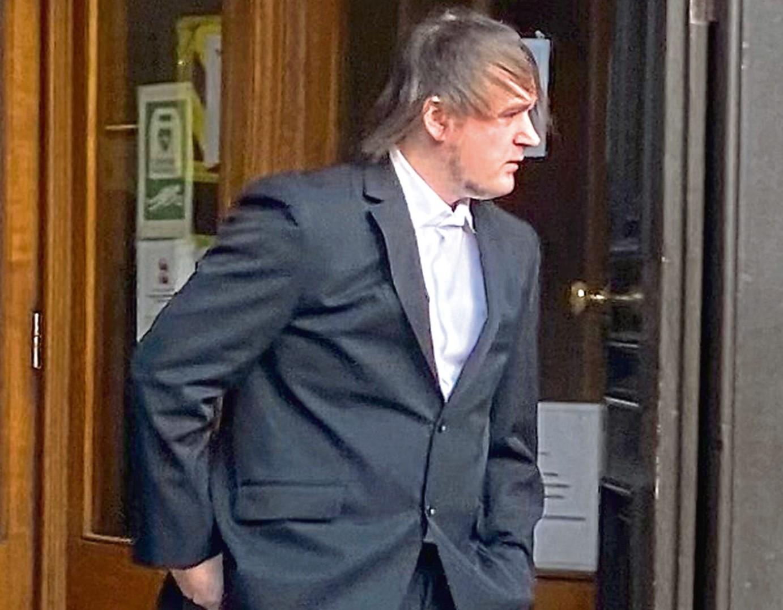 Leon King leaving Aberdeen Sheriff Court