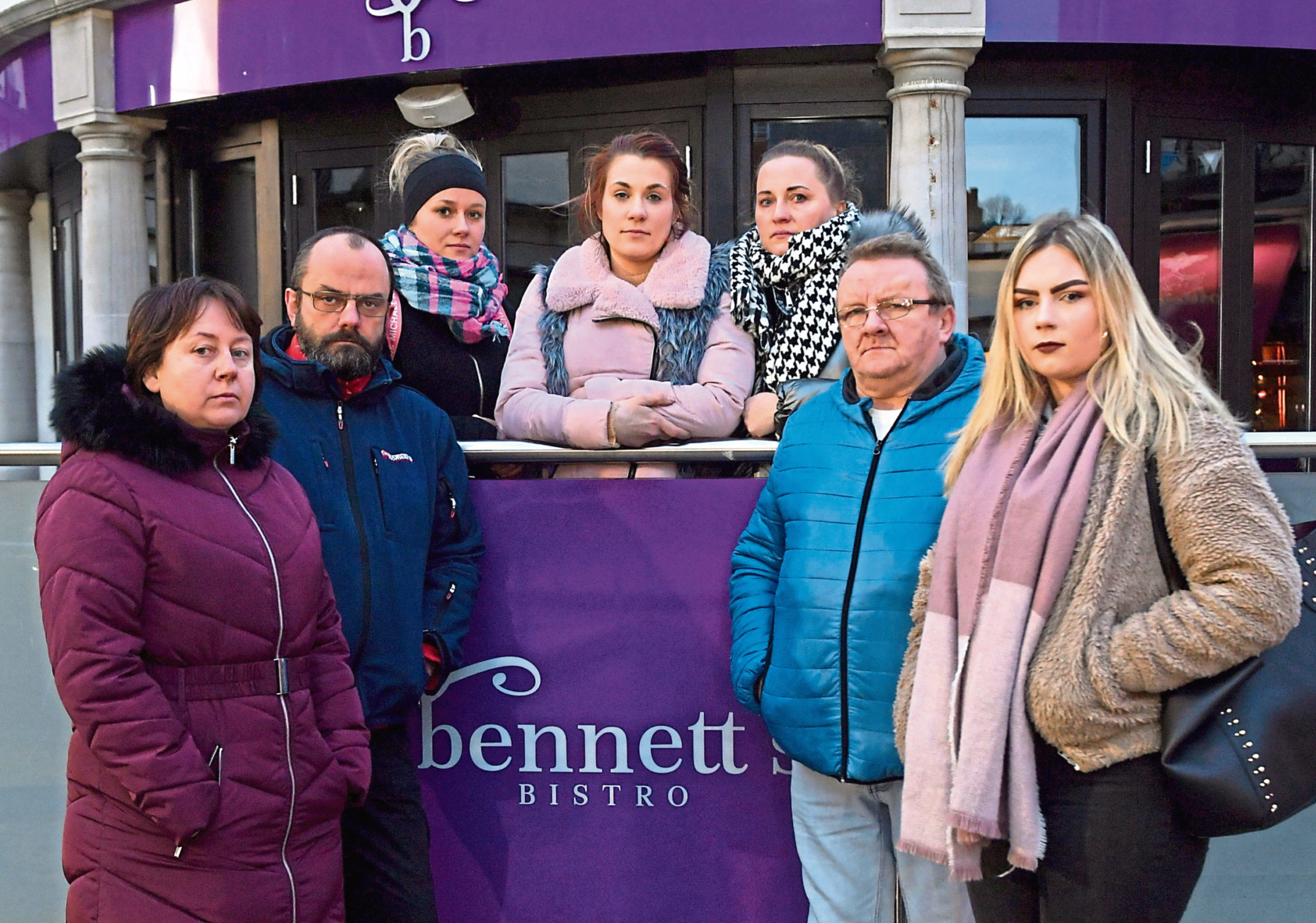 The staff of Bennett's Bistro fear they won't get paid with the eatery closing its doors after just three days