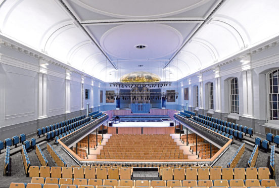 Inside the Aberdeen Music Hall which cost the council more than originally anticipated
