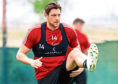 Ash Taylor during an Aberdeen open training session on January 11, 2020 in Dubai, United Arab Emirates.