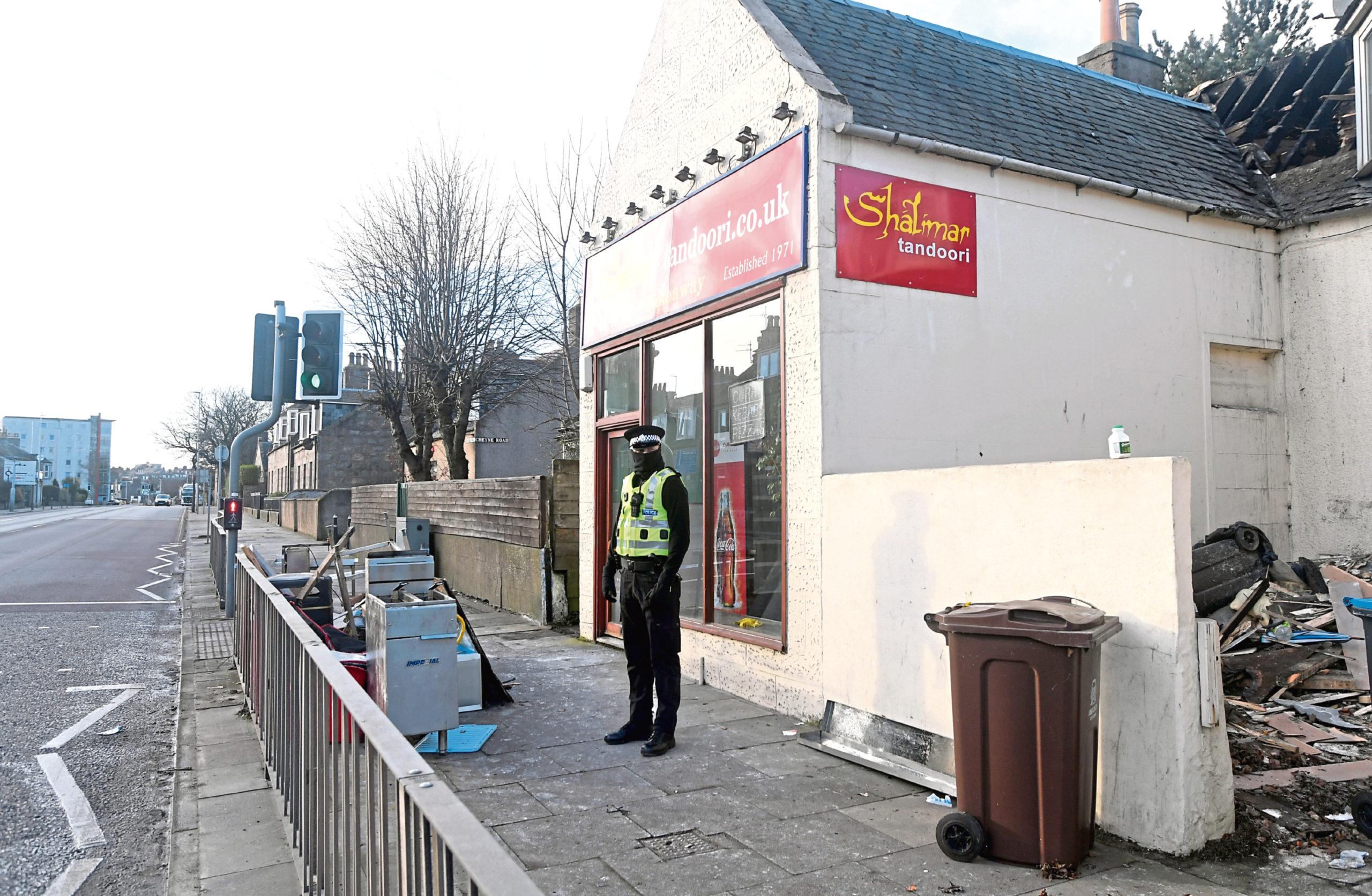 Shalimar Tandoori on King Street, Aberdeen.