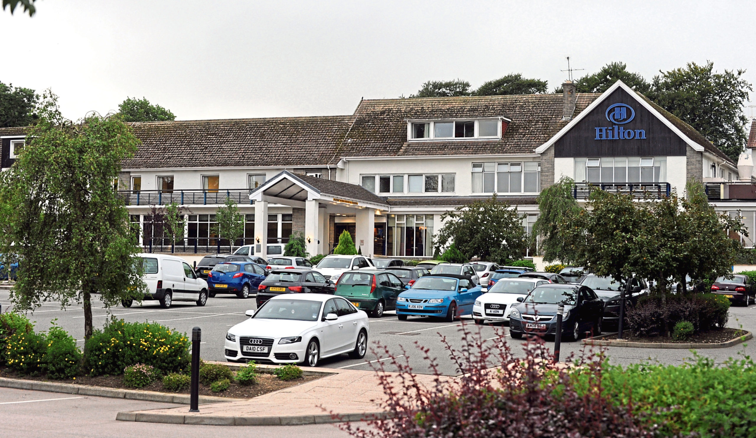 Police received reports of young people gathering at the former Treetops Hotel.