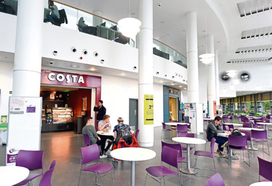 The canteen in the Sir Ian Wood Building, Robert Gordon University