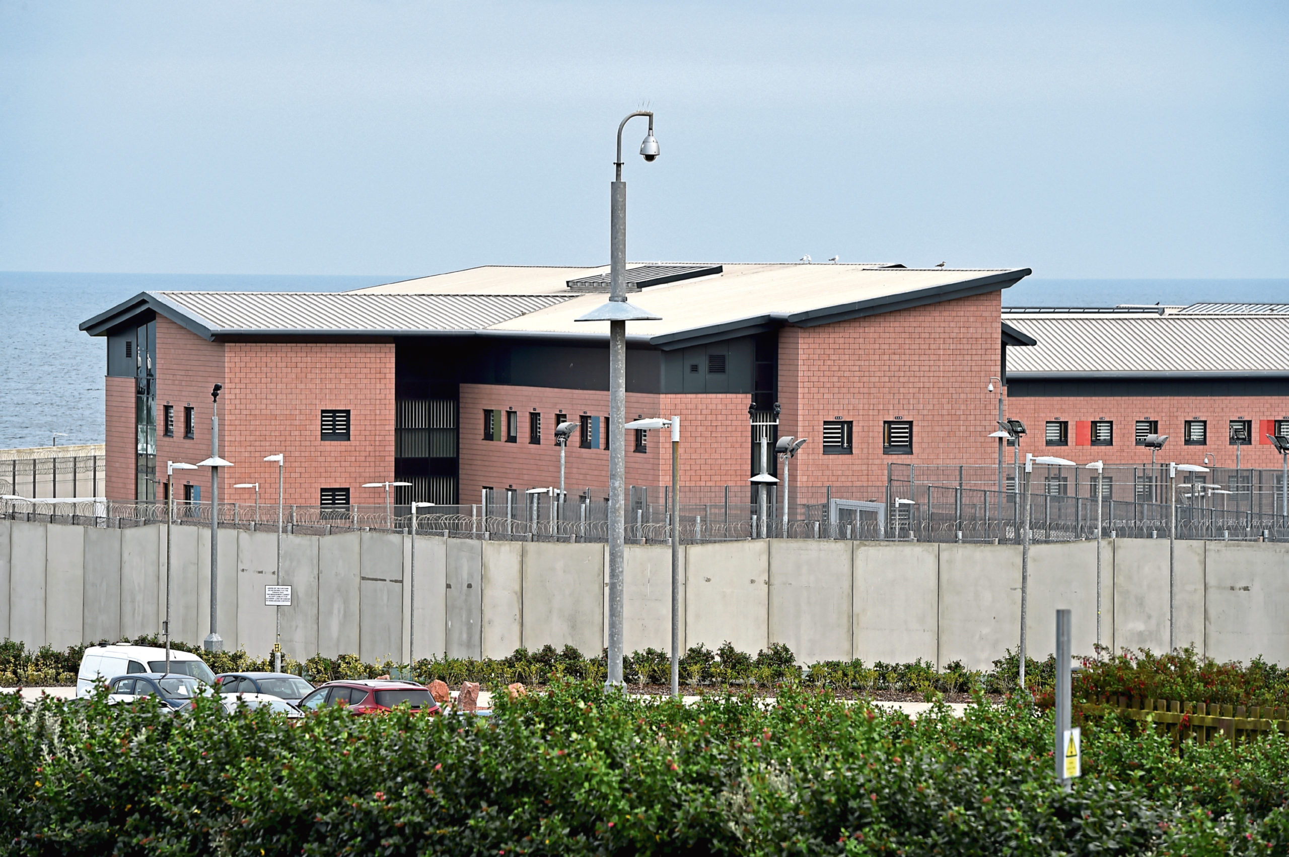 There has been a five-fold rise in prisoners at HMP Grampian being caught with drugs