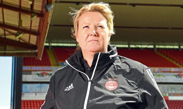 Emma Hunter, co-manager of Aberdeen FC Women.