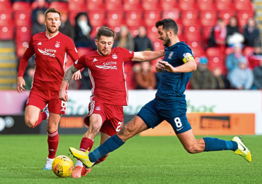 Aberdeen were left frustrated in their initial clash with Killie.