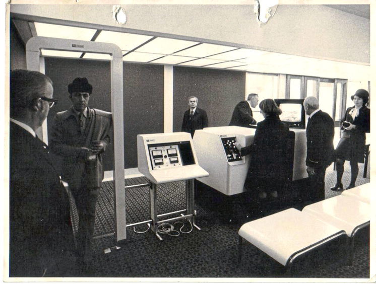The check in desk at Aberdeen airport in its early years
