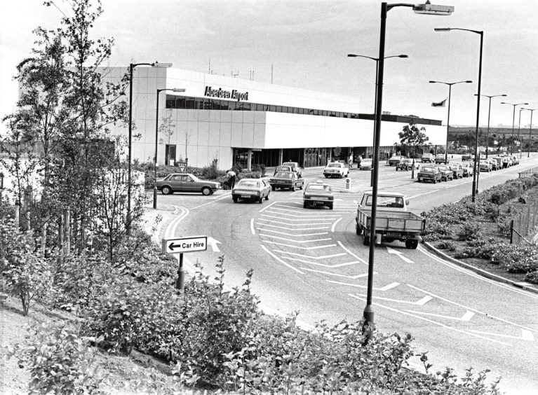 The exterior of the passenger terminal in 1980
