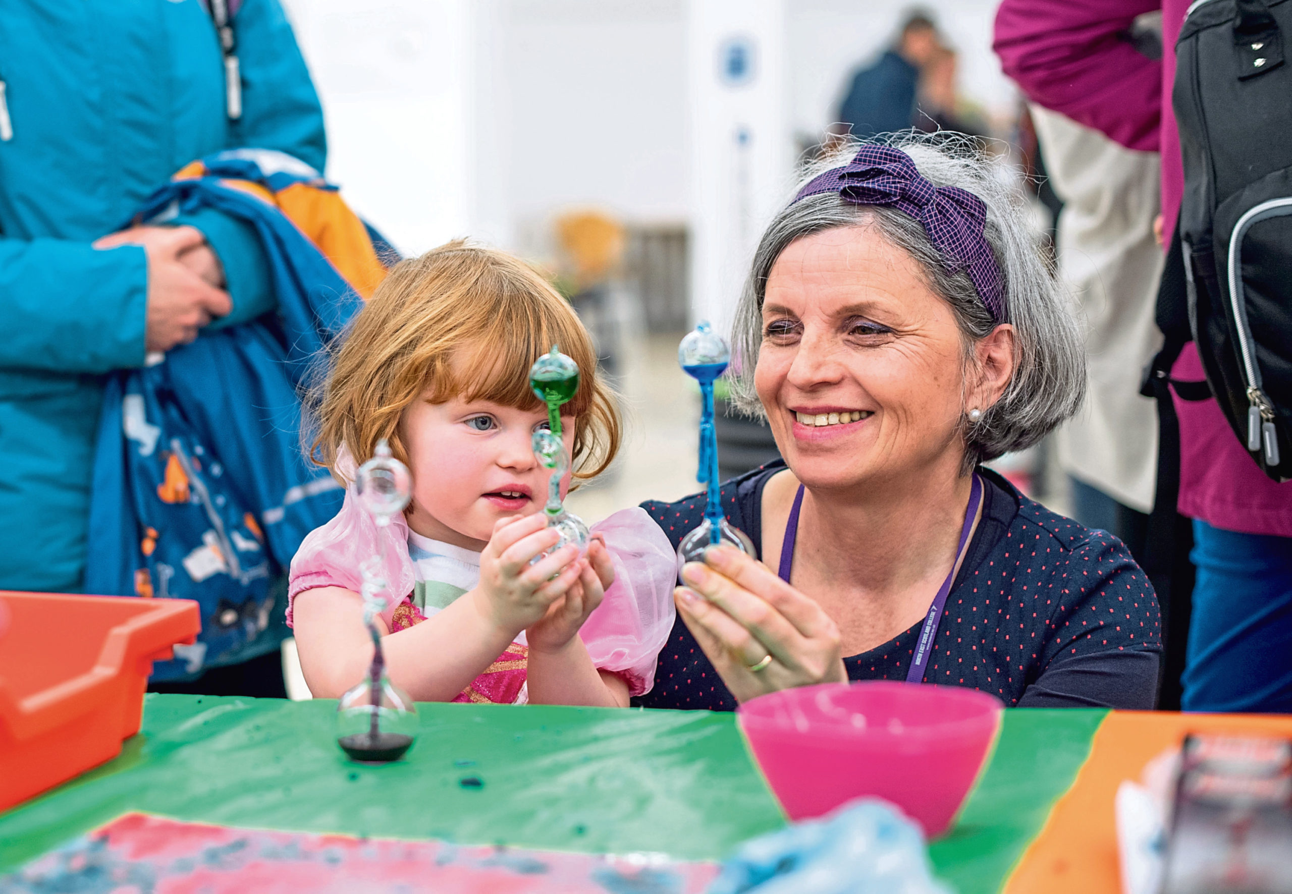 Little magicians learning how to make floating butterflies this weekend at Aberdeen Science Centre's Wizard School
