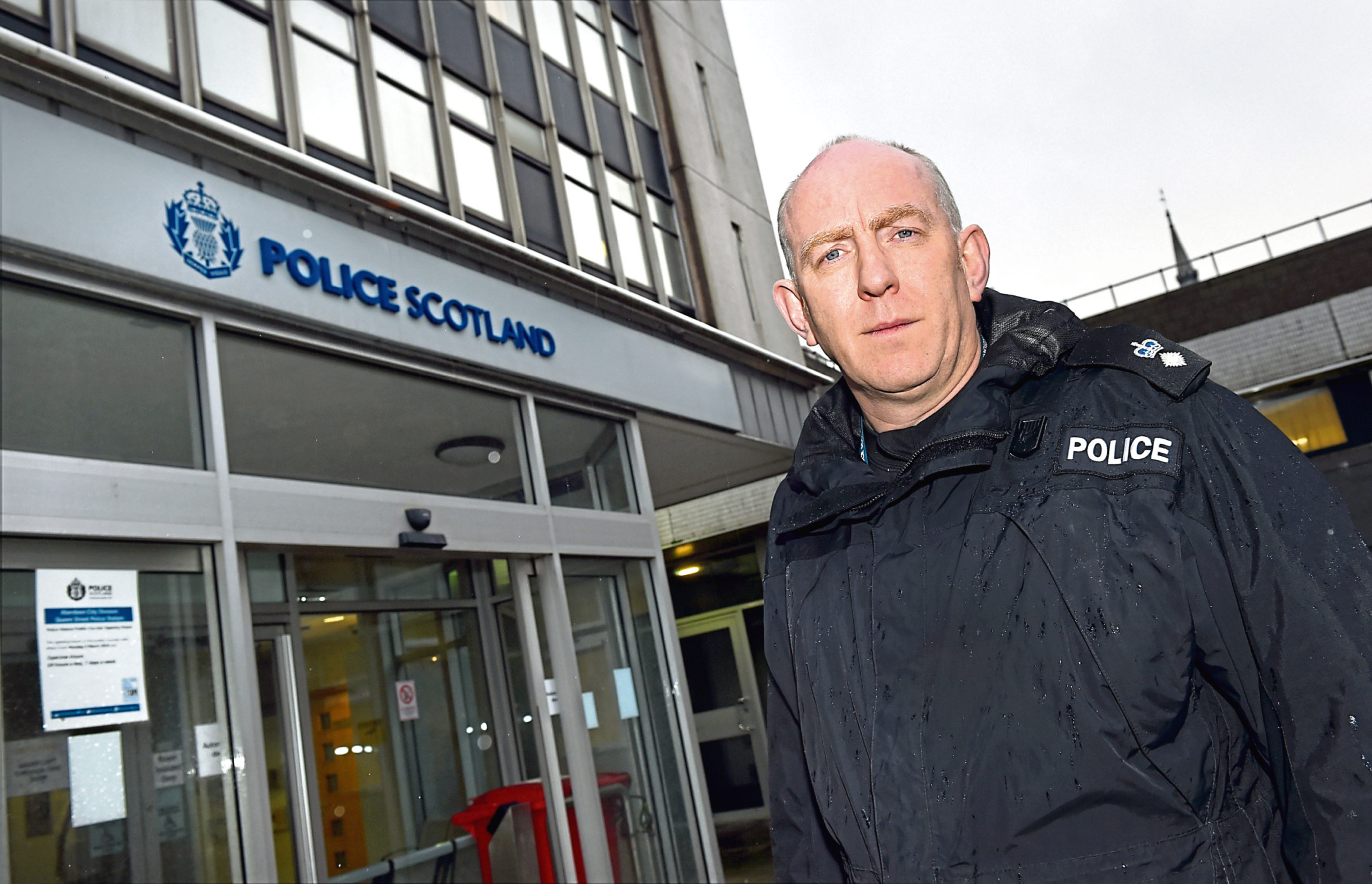 Chief Superintendent Campbell Thomson highlighted a fall in many crime figures