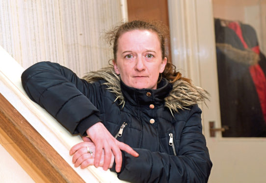 A gang of up to 20 youths have been roaming around Ronaldsay Road terrorising residents including Adele Leslie. Picture by Kath Flannery