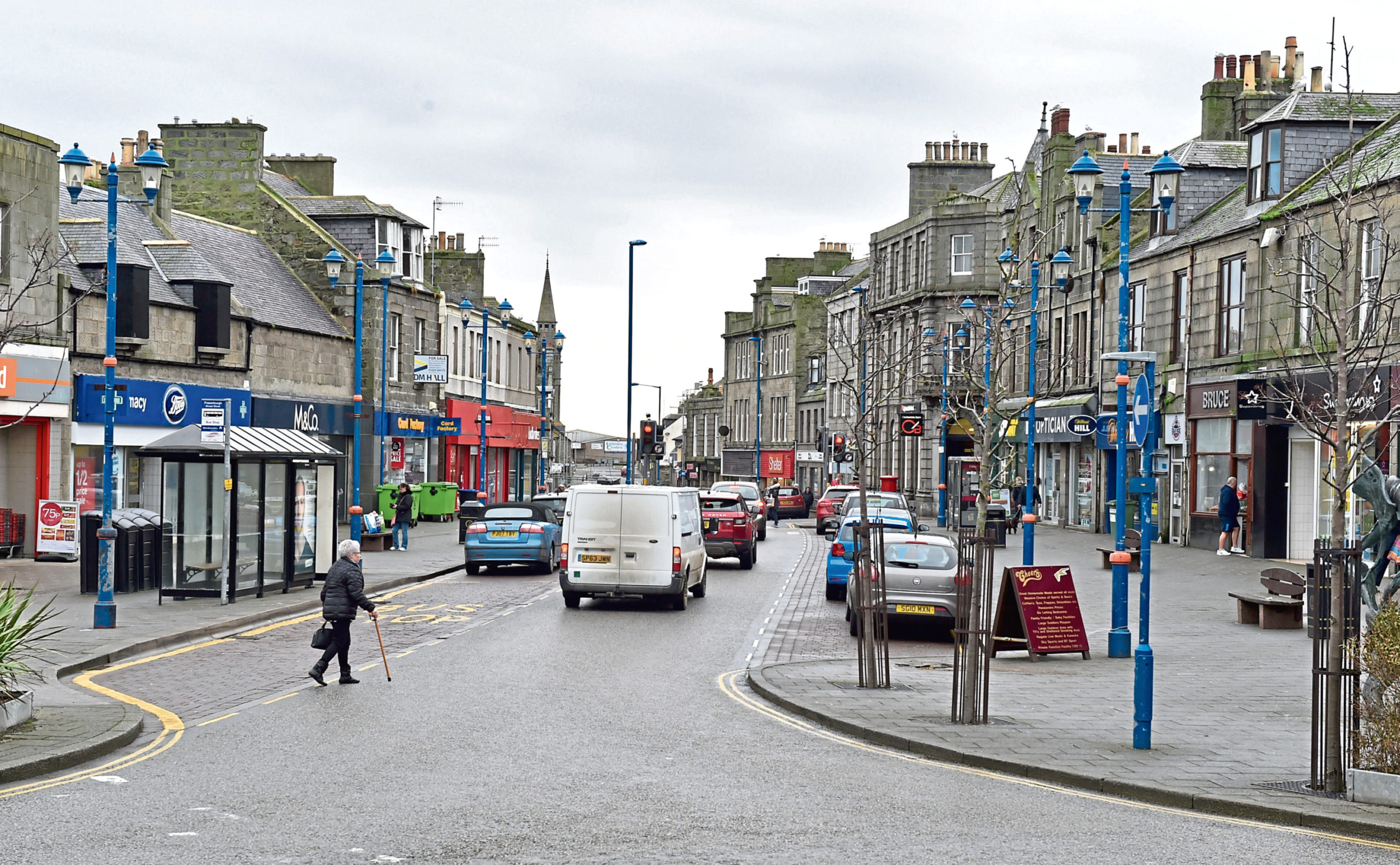 Physical distancing measures are hoped to be put in place by Aberdeenshire Council in town centres including Fraserburgh, pictured